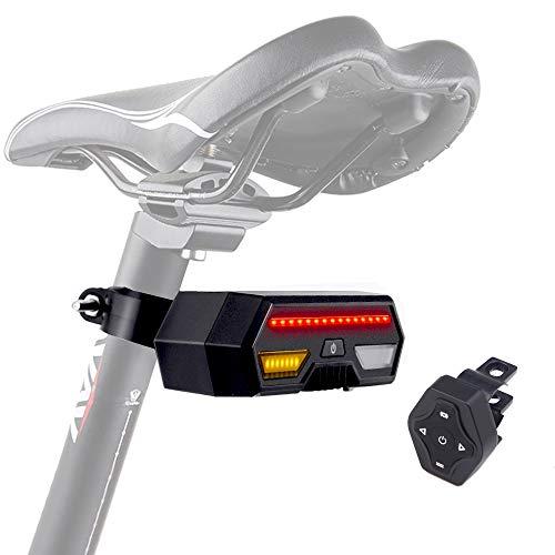 Valuetom Smart-Fahrrad-Rücklicht mit einfacher Bedienung, Richtungswechsel, Anzeigeleuchte, hohe Helligkeit, wasserdicht, automatisches Ein- und Ausschalten für Fahrräder