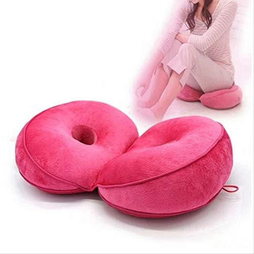 Cojín de asiento engrosado y transpirable Esponja ortopédica Asiento de látex Silla de masaje Cojín plegable doble Almohadilla de felpa para piso