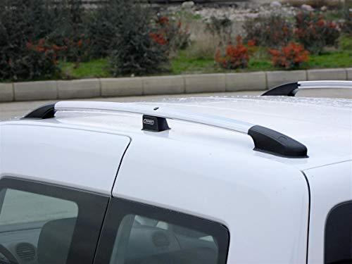 Dachreling passend für VW Caddy III/IV ab Baujahr 2003 in Chrom-Optik mit TÜV und ABE