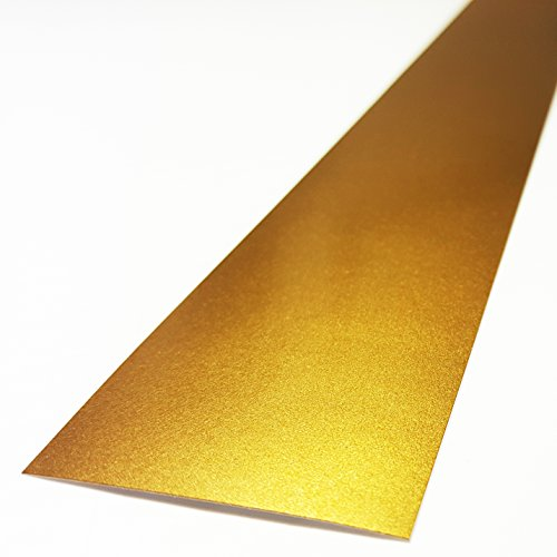 ORACAL 6'x60' Vinyl Windshield Stripe Banner Decal Strip 3M by A1A Sales (3M Metallic Gold - PMS 871C)