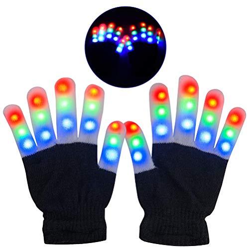 Hihey kleurrijke handschoenen voor festivals/Halloween/Kerstmis/spelen/sport/geschenk, kleine kinderen (maat: meer dan 10 x 18,5 x 5 cm)