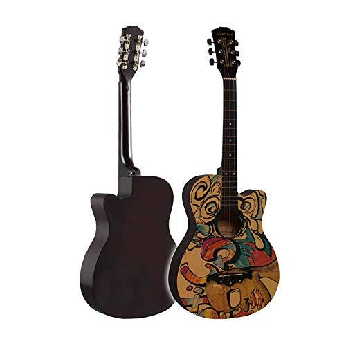 Sanqing Akustische Gitarre, Anfänger 38-Zoll-Holzgitarre, personalisierte Graffiti-Malerei, Klassische Gitarre,GraffitiA,38inch