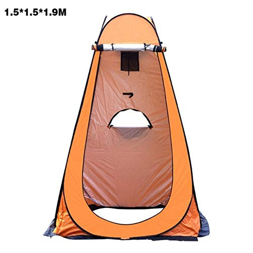 YRDDJQ Instant Pop Up Pod Changing Room Tienda de Privacidad Tienda de Ducha Anti UV Portátil Campamento WC Refugio de Lluvia para Acampar al Aire Libre Playa, Amarillo Grande