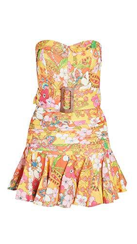 Hemant and Nandita Women's Short Dress, Mellow Yellow, Large
