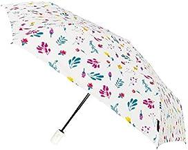 SMATI Folding Umbrella resistant to wind Auto Open&Close (White flower)