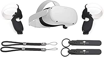 Flagship Oculus Quest 2 All-in-One Virtual Reality 256GB Gaming Headset w/ Fit Pack Bundle High Resolution PC VR Compatible W/GM Controller Protection Controller Grip Accessories