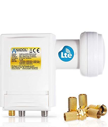 Anadol Premium Unicable LNB-Unikabel 8 für Satellit + 2 Legacy 40mm für HD HDTV - LTE abgeschirmt - für 10 Teilnehmer - 0,1dB Rauschmaß 2 SCR 2 - digital-LNB Wetterschutz