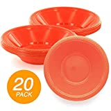 SparkSettings Reusable Plastic Bowls Washable BPA Free Cereal Bowl Perfect for for Salad, Fruit,...