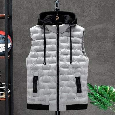 LYLY Vest Women Vests Solid Men's Winter Jacket Warm Men's Outerwear Waistcoat Casual Vest Hooded Jacket Man Sleeveless Men's Vest Vest Warm (Color : Gray, Size : XS)