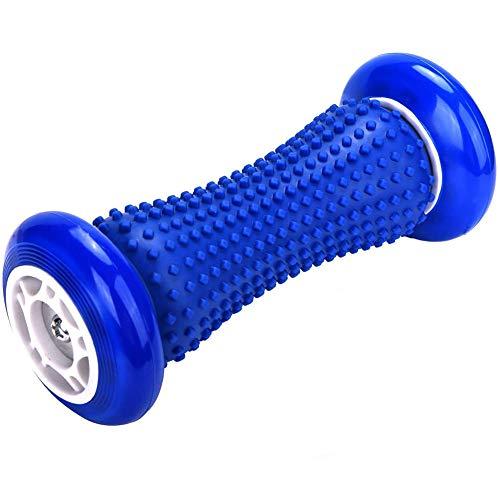 IREGRO fussroller Muskel Roller Stick, Hand und Fuß Massage Roller, faszien Rolle fussroller Massage Stick, Handgelenke und Unterarme Übungsroller, Recovery Tool für Plantar Fasciitis (Blau Rad)