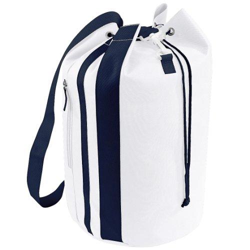 Bagbase - Sacca Marinaio (28 Litri) (Taglia unica) (Bianco/Blu navy)