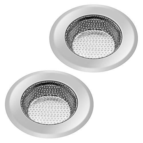 Kitchen Sink Strainer Basket Stainless Steel Sink Drain Filter Kitchen Tools and Gadgets Large Wide Rim 4.5 Inch Diameter(2 PCS)