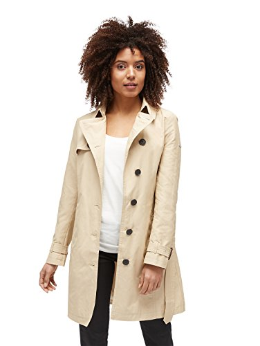 TOM TAILOR Damen My Springtime Trench Mantel, Beige (Sandy Beige 8727), XX-Large