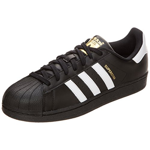 adidas Originals Superstar Foundation Herren Sneakers, B27140, Schwarz (Core Black/Ftwr White/Core Black), EU 42 2/3