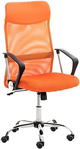 CLP Bürostuhl Washington I Ergonomischer Drehstuhl I Höhenverstellbar Mit Wippmechanik, Farbe:orange