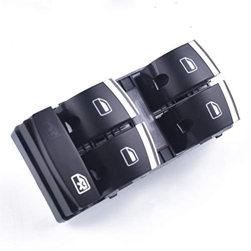 Mrwzq Interruptor de la Ventana del Lado del Conductor Interruptor de Ajuste de Cromo Ventana Principal for Audi A3 8P A4 S4 RS4 B6 B7 A6 S6 RS6 C6 4F0959851H Q7