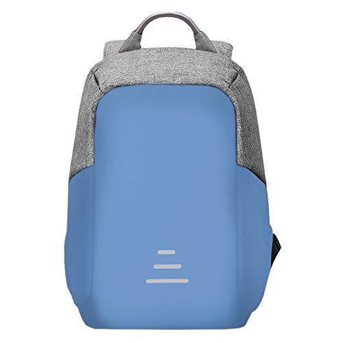 Colour Backpack: Mochila Antirrobo Impermeable Ignífuga Tecnología Anticortes Ordenador Portátil USB Ligera Colores Business Ejecutiva (Azul)