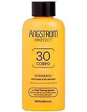 Angstrom Protect Latte Solare Ultra Idratante, Acceleratore Solare 30+ con Azione Nutriente e Prolungata, Indicata per Pelli Sensibili, 200 ml