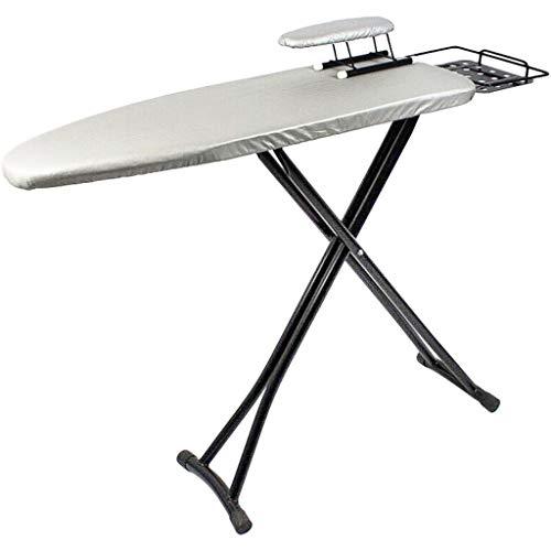 GBPOY Tabla de Planchar Plegable Telescópico Inicio Plancha Tabla de Planchar, Plata 120 * 34cm, Hierro Mesa de Planchar portátil (Color : Silver)