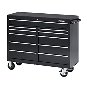 Waterloo Pca 5211bk 52 Inch Wide 11 Drawer Cabinet With Liners Casters Black Don T Miss Consayl100i
