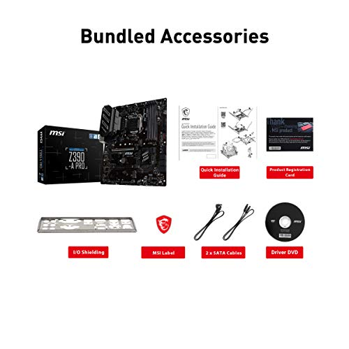 MSI Z390-A PRO LGA1151 (Intel 8th and 9th Gen) M.2 USB 3.1 Gen 2 DDR4 HDMI DP CFX Dual Gigabit LAN ATX Z390 Gaming Motherboard Hawaii