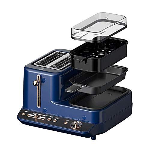 DMMSS Máquina Multifuncional Máquina de Desayuno Tostadora Tostadora de la casa Pequeña fritura y Tostado Pote de Cocina