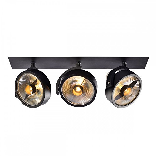 SLV Einbau-Strahler KALU 3, dreh- und schwenkbar | Dimmbare Deckenleuchten, Beleuchtung innen | LED Spots, Fluter, Deckenstrahler, Decken-Lampen, Einbau-Leuchten | 3-flammig, GU10 QPAR111, EEK E-A++