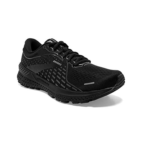 Brooks Women's Adrenaline GTS 21, Black/Black, 10 Medium
