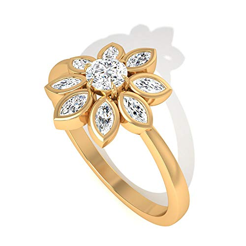 Rosec Jewels 18 quilates oro amarillo marquise-shape round-brilliant-shape H-I Diamond