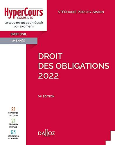 Droit des obligations 2022 - 14e ed.