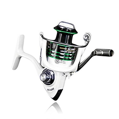 LINMAN Spinning Fishing Reel Rueda MAX Drag 8kg Carpa de Metal Carpa 5.2: 1 Ratio de Engranajes Bobinas de Invierno Carrete de Pesca Pesca Accesorios Mar