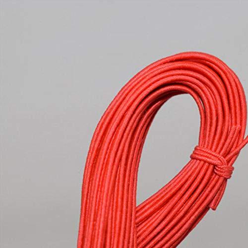 LLAAIT Cordoncino Elastico Elastico Corda di Gomma Bracciale in Nylon Corde Strisce per Capelli Accessorio Gioielli Fai-da-Te Bracciale e Collana, 12