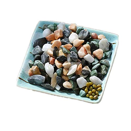 XIGUI Mini Assorted Garden Beach Stone Rocks Pebbles Aquarium Lake Collection for Outdoor & Indoor Home Garden Decoration, Arts & Crafts Projects, Party Favors, Invitation,colourful(1 Pound Bag)
