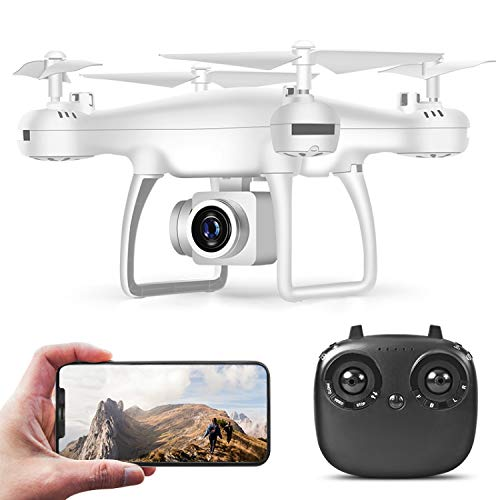 AUTERCO Drones with Camera for Adults,Drones for Kids,RC Quadcopter Drone, 30 Minutes Long Flight Time Drone,Drone with 720p HD,Beginners and boy Girls Best Gift(2 Batteries) (White)