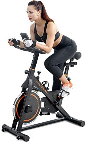 UREVO Indoor Cycling Bike Stationary Exercise Bike Workout Bike Fitness Bikes for Home Cardio product image