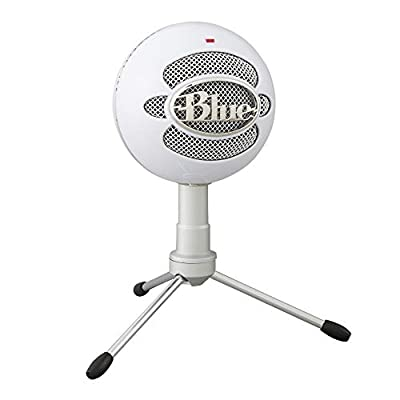 Blue Microphones Snowball iCE Plug 'n Play USB Microphone For Recording, Podcasting, Broadcasting, Twitch Game Streaming, VOICE overs, YouTube Videos on PC and Mac - White