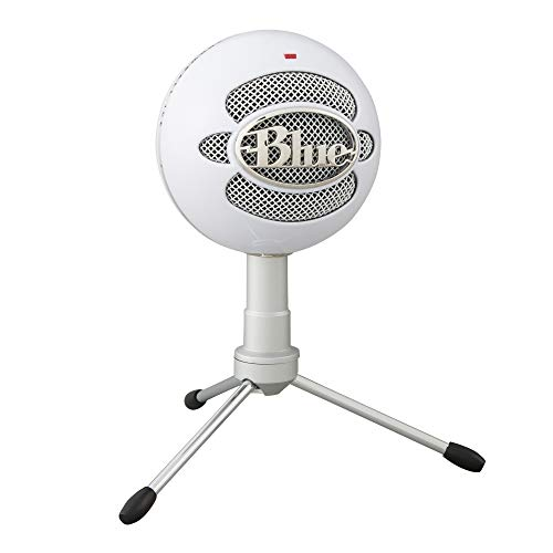 Blue Snowball iCE USB Mic for Recording and Streaming on PC and Mac, Cardioid Condenser Capsule, Adjustable Stand, Plug and Play – White