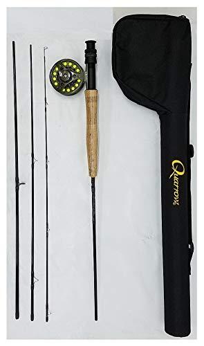 NEBO Quarrrow 6222 Small Stream Combo Kit - Rod, Reel, Line, Carrying Case - Quality Starter Kit for Fishermen