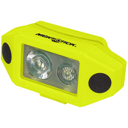 Nightstick XPP-5460GCX X-Series Intrinsically Safe Low-Profile Dual-Light Headlamp with Hard Hat Clip, Green