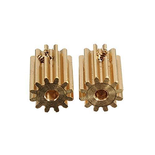 HSJWOSA Beneficiosamente 2pcs 12T 12060 Motor Engranajes de piñón con el Tornillo for HBX 1/12 RC Coches Durable Dominantemente