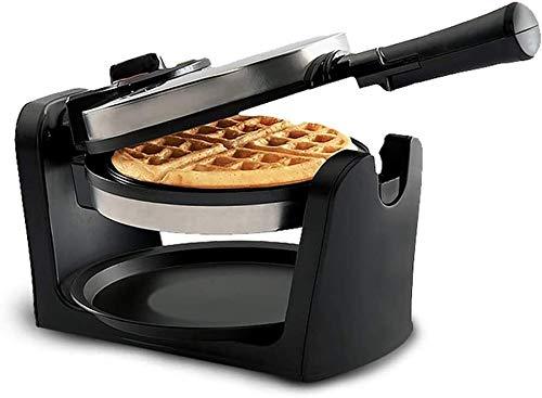 ZOUSHUAIDEDIAN Belga fabricante de la galleta, 180 ° Double Flip Waffle hierro, placas antiadherente, bandeja de goteo extraíble y giratoria, 950W Temperatura ajustable de control y frío al tacto mani