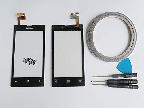 Display Esterno Nokia Lumia 520 Nero Touch Screen + Kit Utensili 5 Pezzi. [ARTUROLUDWIG]