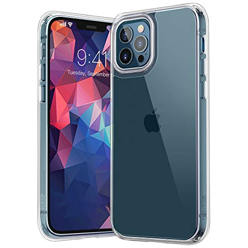 Youmaker Clear Case for iPhone 12 Pro Max, Compatible with iPhone 12 Pro Max 5G 6.7 Inch Shockproof Soft TPU Bumper Protective Phone Case for 6.7-inch (2020) - Transparent
