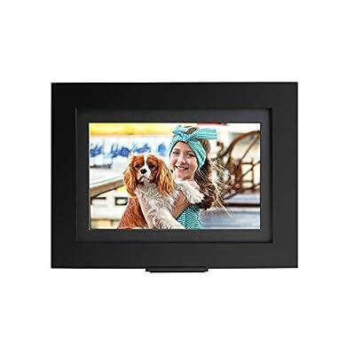 "Brookstone PhotoShare Smart Digital Picture Frame, WiFi, HD, Family Photo Album Slideshow, Tabletop End Table, Home Décor, 10"", Classic Black"