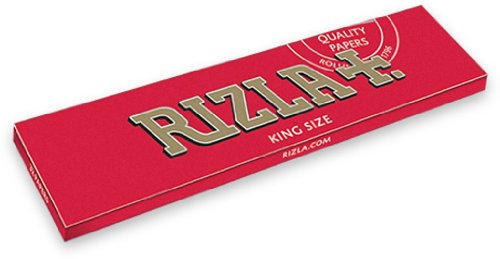 5 Packets Rizla Red King Size Cigarette - Tobacco Rolling papers by Rizla