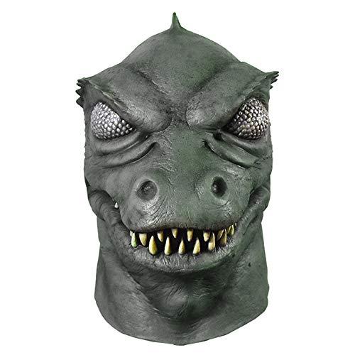 Erwachsene Herren Star Trek Gorn Lizard Humanooid Monster Halloween Kostüm Latex Maske Grün