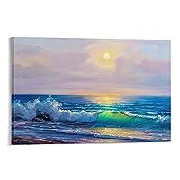 美しいビーチの風景ポスター41風景キャンバス絵画壁アートリビングルームポスター寝室オフィス装飾絵画12×18インチ(30×45cm)