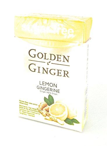 Golden Ginger ハーブはレモンgingerine(シュガーフリー)、45グラム(2パック)をドロップ