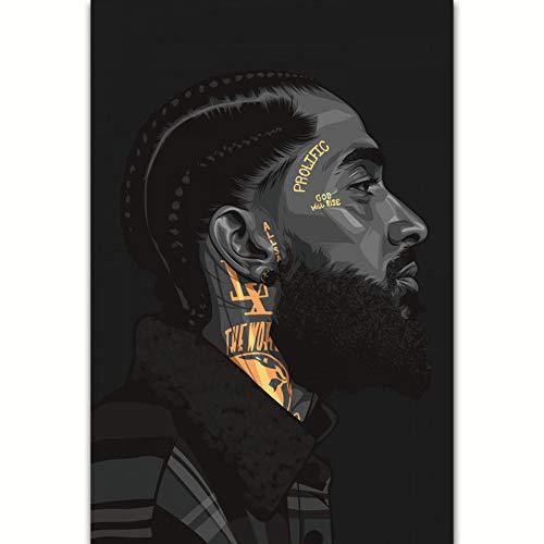 Hussle Rapper Hip Hop Music Wall Nipsey Sacramento Mall Art Poster Seattle Mall Print