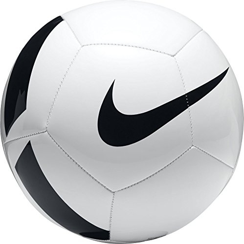 Nike Unisex– Erwachsene Pitch Team Football Fußballbälle, white/black, 5